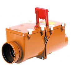 Канализационный затвор HL (Hutterer Lechner) 715.2 механический 2-х камерный с заслонкой и фиксацией DN 160