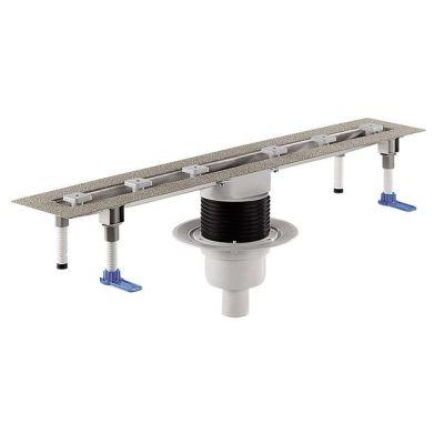 Корпус плоского душевого лотка HL (Hutterer Lechner) 50FV.0 для линейного отведения воды