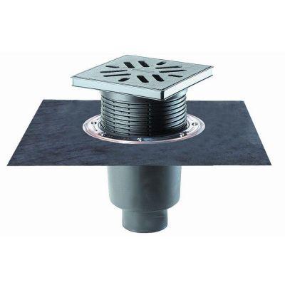 Дворовый трап HL (Hutterer Lechner) 616H чугунная решетка, нагрузка до 7 тонн, битумное полотно