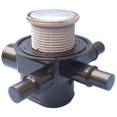 Трап HL (Hutterer Lechner) 70R с круглой решеткой и затвором обратного потока воды