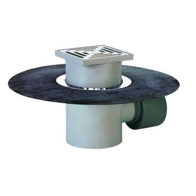 Трап HL (Hutterer Lechner) 72.1HN с решеткой из нерж стали, сеткой для мусора и гидрозатвором