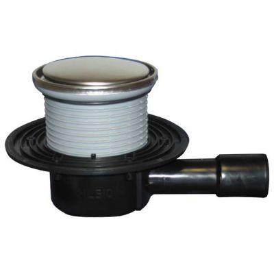 Трап HL (Hutterer Lechner) 510NR с круглой решеткой из нерж стали, гидрозатвором