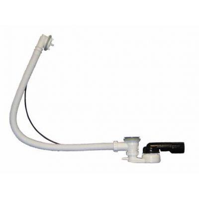 Выпуск-полуавтомат HL (Hutterer Lechner) 555N.0 со сливом и переливом для ванн, с шарнирным сифоном DN50/40