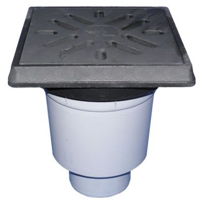 Дворовый трап HL (Hutterer Lechner) 606.1 чугунная решетка, нагрузка до 12,5 тонн