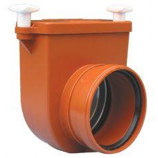 Канализационный затвор HL (Hutterer Lechner) 712.0 механический для колодцев с заслонкой и лючком DN 125