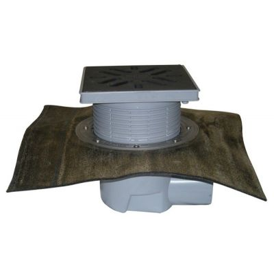 Дворовый трап HL (Hutterer Lechner) 615HL решетка из ПП, нагрузка до 1,5 тонн, битумное полотно