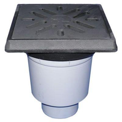 Трап HL (Hutterer Lechner) 606.1W гидрозатвор, чугунная решетка
