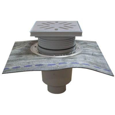 Дворовый трап HL (Hutterer Lechner) 616HS решетка из нерж стали, нагрузка до 1,5 тонн, битумное полотно