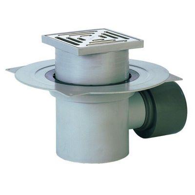 Трап HL (Hutterer Lechner) 72.1N с решеткой из нерж стали, сеткой для мусора и гидрозатвором