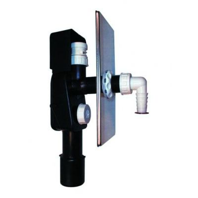 Сифон HL (Hutterer Lechner) 404.1 встроенный для стиральной или посудомоечной машины с клапаном HL902 DN 40/50