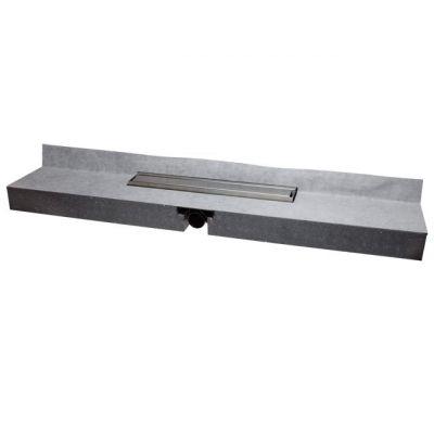 Душевой лоток HL (Hutterer Lechner) 531 встроенный в монтажную плиту 1200х200х79 мм с решёткой HL0531S