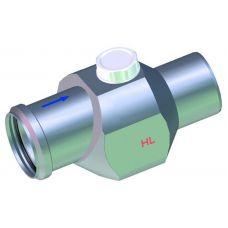 Обратный канализационный клапан HL (Hutterer Lechner) 4/7 шар-поплавок с прочисткой