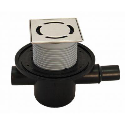 Трап HL (Hutterer Lechner) 300-3000 с обратным клапаном решеткой из нерж стали Klik-Klak