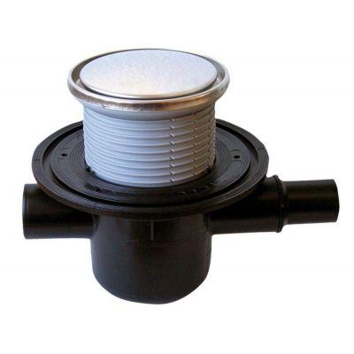 Трап HL (Hutterer Lechner) 300R с обратным клапаном и круглой решеткой