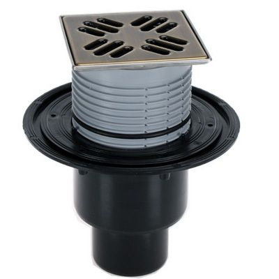 Трап HL (Hutterer Lechner) 310NPr-3000.33 решетка темная бронза из нерж стали 115х115 мм