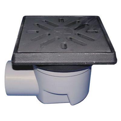 Трап HL (Hutterer Lechner) 605.1W гидрозатвор и чугунная решетка