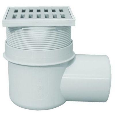 Трап HL (Hutterer Lechner) 72 с решеткой из РР, сеткой для мусора, без тарелки для подхвата гидроизоляции