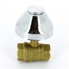 Кран шаровой ITAP 136 ВВ под штукатурку колпак