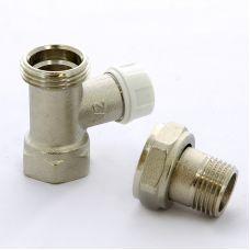 """Вентиль ITAP 296S НВ для радиаторов обратный с разъемным соединением, с уплотнительной прокладкой O-ring и стопором ITAP 1/2"""" со сгоном"""