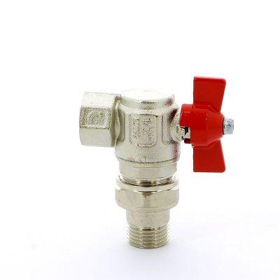 Кран шаровой ITAP 298 НВ угловой с разъемным соединением IDEAL бабочка