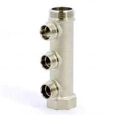 Коллектор распределительный ITAP 455 НВ 3/4' никелированный 1/2' НР