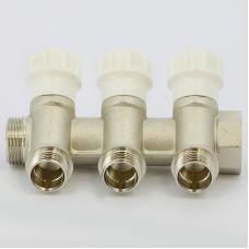 Коллектор распределительный ITAP 465 НВ 3/4' с вентилями 1/2' НР