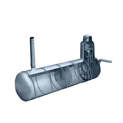 Подземная горизонтальная канализационная насосная станция из полипропилена D3000_L8500