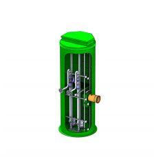 Подземная вертикальная канализационная насосная станция из стеклопластика D3200_H9500
