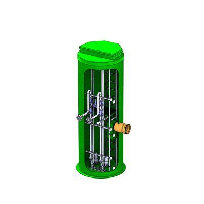 Подземная вертикальная канализационная насосная станция из стеклопластика D3200_H9000