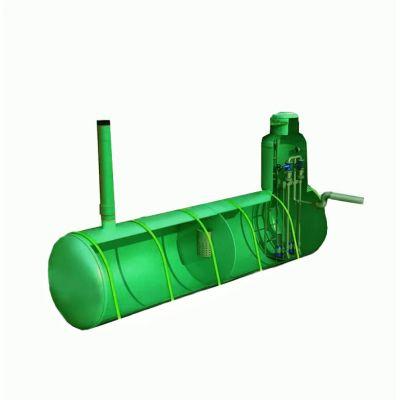 Подземная горизонтальная канализационная насосная станция из стеклопластика D1500_L8000
