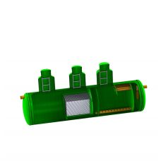 Комбинированный песко-нефтеуловитель с сорбционным фильтром SBC-LOS 90 из стеклопластика D3000_L12400