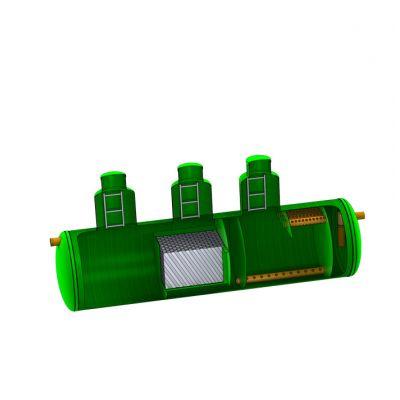 Комбинированный песко-нефтеуловитель с сорбционным фильтром SBC-LOS 150 из стеклопластика D3600_L14500