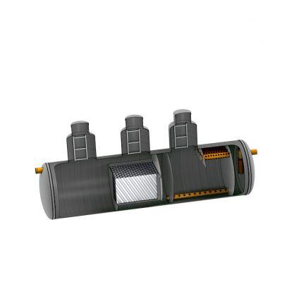 Комбинированный песко-нефтеуловитель с сорбционным фильтром SBC-LOS 30 из полипропилена D1900_L8700