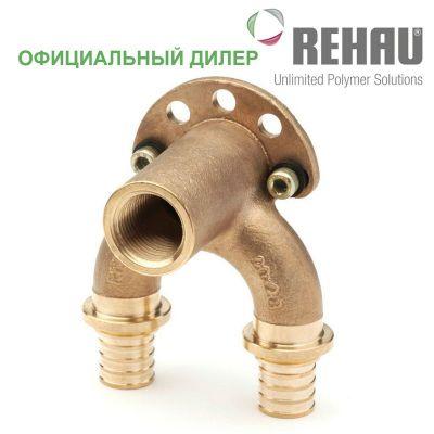 Угольник настенный Rehau Rautitan 25/25-Rp 1/2 проточный длинный RX
